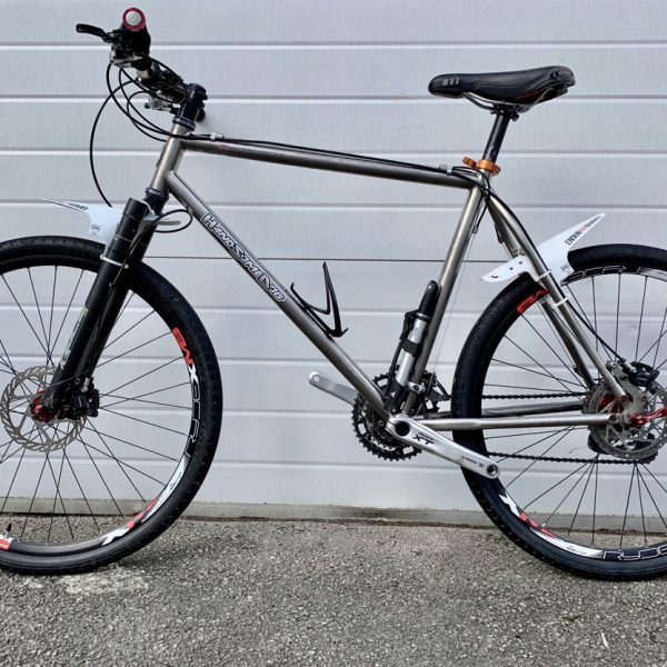 handsome dog titanium mountain bike
